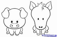 cute farm animals drawings. Perfect Farm How To Draw A Simple Animal Step By Step Farm Animals Animals With Cute Animals Drawings
