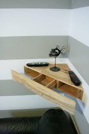 diy corner tv stand. reclaimed pallet wood corner floating shelf with by shueboxed diy tv stand