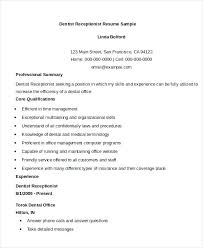 Dental Receptionist Resume Objective This Is Dental Receptionist Resume Dental Receptionist Resume 43
