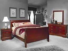 bordeaux louis philippe style bedroom furniture collection.  Bordeaux 4pc Queen Size Sleigh Bedroom Set Louis Philippe Style In Cherry Finish To Bordeaux Furniture Collection E