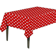 round polka dot tablecloth tablecloths home red white polyester inch x plastic black and vinyl