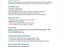 Famous Resume Format For Fresher In Wordpad Contemporary Entry