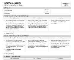 Job Performance Review Job Performance Review Template