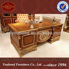 office desk wood. 0062 European Style Luxury Wooden Executive Office Desk/ Classic Wood Carving Writing Table/ Home Desk