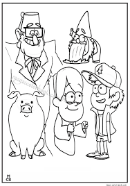 Gravity Falls Journal Coloring Pages Coloring Pages For Kids Free