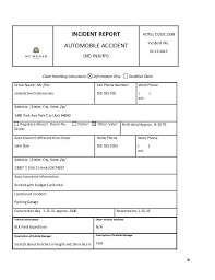incident report example incident report sample security officer guard example template how
