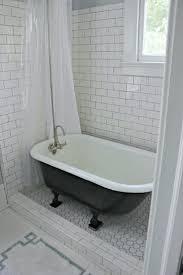 clawfoot bathtub shower curtain rod tub curtain glancing