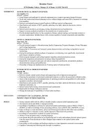 Optical Engineer Sample Resume Optical Design Engineer Resume Samples Velvet Jobs 1