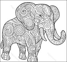 excellent elephant color page free coloring pages zentangle