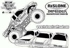 Niewu Kleurplaat Monster Truck Kleurplaat 2019
