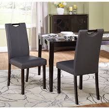 simple living tilo grey leatherette parson dining chairs set of 2