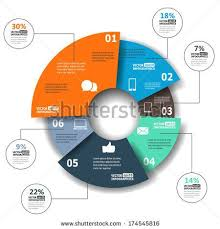 Modern Paper Infographics In A Pie Chart For Web Banners