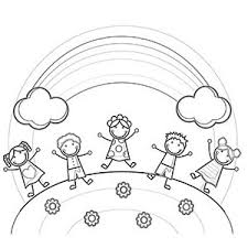 Small Picture Free Printable Rainbow Coloring Pages for Kids Rainbows Free