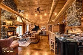 Grandview  Log Homes Cabins And Log Home Floor Plans  Wisconsin Open Log Home Floor Plans