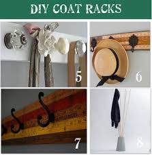 Homemade Coat Rack Interesting 32 DIY Coat Rack Ideas Tip Junkie