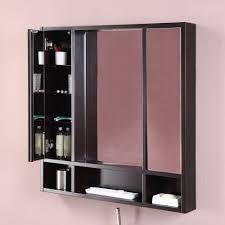 Moderner Badezimmer Schrank Holz Wandmontiert Mit Spiegel