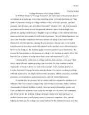 ucwr the way to rainy mountain summary chelsie stokes ucwr  2 pages ucwr college pressure essay