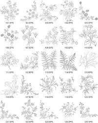 線画ベクター図 5 の花の種類 無料素材イラストベクターのフリー
