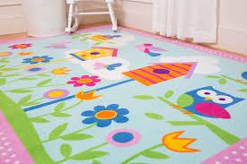 kids area rug flower