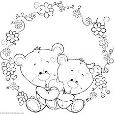 Cute Teddy Bear 52 Coloring Pages
