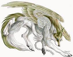 white wolf with wings drawing. Anime White Wolf With Wings Viewing Starlight Lunaria Profile Profiles Gaia And Drawing