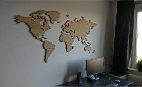 wooden world map oak map it studio