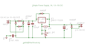 linuxfocus org simple dc power supply for your lab the 0 1uf capacity between earth and signal ground is needed if you have a transformer where one layer of the secondary coil is very close to the primary