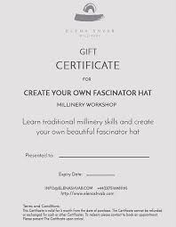 Gift Certificate Create Your Own Fascinator Hat Workshop
