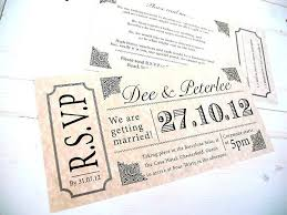 Invitation Ticket Template Awesome Concert Ticket Wedding Invitations Ticket Style Invitation Template