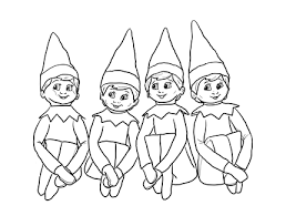 Elf On Shelf Coloring Pages Elf The Shelf Color Pages For Elf On The