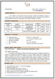 Resume Sample in Word Document  MBA Marketing   Sales  Fresher      Resume Templates Doc   Gfyork com