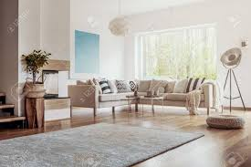 open space white living room interior with big rug on dark rugs for hardwood floor large size extra small or giant memory foam fluffy oversized round huge