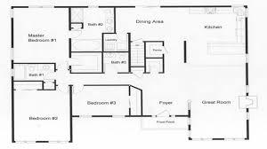3 Bedroom Open Floor House Plans Custom Design Inspiration