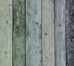 Steigerhout Vliesbehang Antiek Groenblauw 73283 Bedstee Ideeën