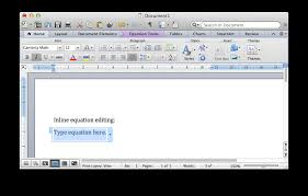 inline equation editing in word 2016 for mac