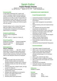 Project Management Skills Resume Amazing Project Manager Resume Sample