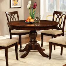 furniture of america carlisle round dining table in brown cherry