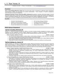 Example Of Management Skills Curriculum Project Manager Example Cover Letter It Management Skills