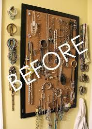 DIY Jewelry Organizer - BEFORE - artsychicksrule #jewelryorganizer  #popularpins