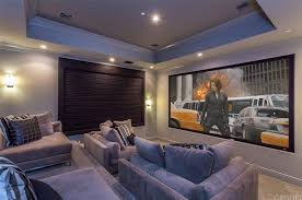 Home theater furniture ideas Diy The Home Theater Boasts Set Of Modish Sectional Seats Surrounded By Beautiful Lighting Home Stratosphere 100 Home Theater Media Room Ideas 2019 awesome