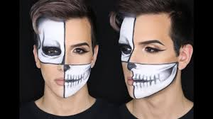 half skull makeup tutorial andthatsjacob you