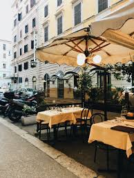 Outside Restaurants Rome