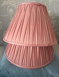 2x laura ashley 14 inch lamp shades pink