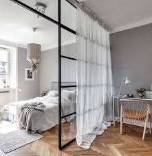 master bedroom office. love the wall divider with sheer curtain master bedroom office i