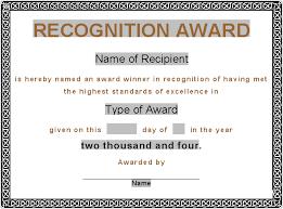Sample Certificate Award Award Certificate Template Award Certificates Award