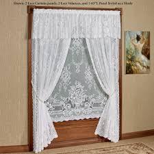 cranbrook lace curtain panel white