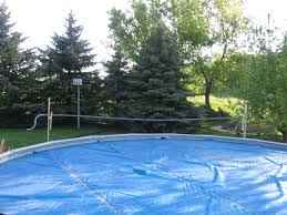 solar pool cover reel diy diy ideas