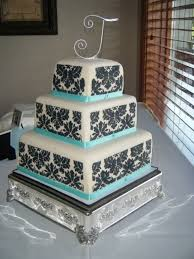 black and white and blue wedding cakes. Blackwhiteandbluishweddingcakes Black And White Tiffany Blue Wedding Cake Square Cakes With Pinterest