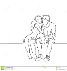 Young Couple In Love Sitting Stock Vector Illustration Of People
