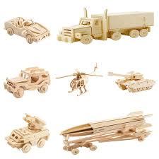 diy 3d wooden car truck puzzle game children kids natural color toy model building kits educational hobbies gift